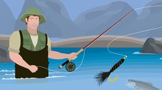 Learn how to present flies to catch more fish when casting in a stream!