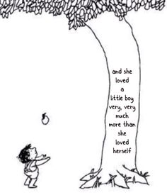 Yes, yes, yes, please!!! This WILL be tattoo #6. Dedicated to my son-shines, of course.  Homage to Shel Silverstein's The Giving Tree.
