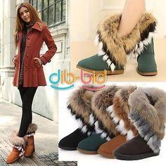 Hot Autumn Winter Women Snow Boots Ankle Boots Warm Fur Shoes 3 Colors