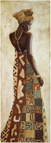 Femme Africaine III Art Print