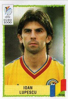 Ioan Lupescu of Romania. Euro 2000 card.