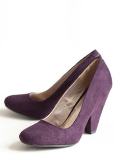"""Blissful Season Pumps In Purple 36.99 at shopruche.com. A wardrobe must-have, these softly textured pumps crafted in a rich jewel tone purple will lend a classic sophistication to your style.All man-made materials, 4"""" heel"""