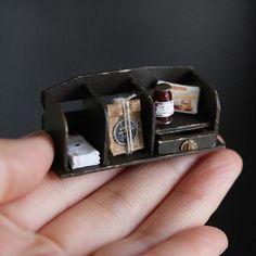 . 2017.6.1 . おはようございます♪♪ 今日から6月。 今月もがんばっていこう!! . . . #instadaily #instagood #instagram #instpic #handmade #miniature #miniaturedollhouse #miniaturefood#antique #drawer #ミニチュア#ミニチュアフード#アンティーク#棚#ハンドメイド#引き出し