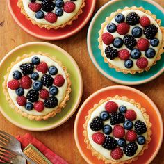 Mixed Berry Tarts with Lemony Filling - FineCooking