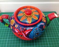 Hand painted Ceramic Dragon Teapot £25.00