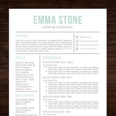 """★ Instant Download ★ Resume Template / CV Template for MS Word 
