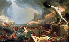Thomas Cole - Le Cours de l'Empire - 1836 - La Destruction
