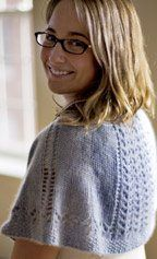 Knits up beautifully, and stays on shoulders easily! Summer Shawlette - Media - Knitting Daily