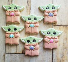 Pink Cookies, Baby Cookies, Valentine Cookies, Royal Icing Cookies, Birthday Cookies, Yummy Cookies, Sugar Cookies, Valentines, Star Wars Cookies