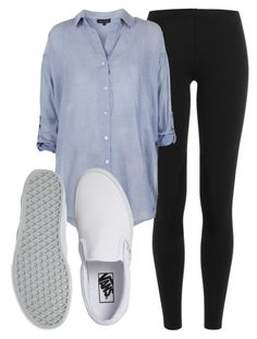 """""""Vans and Leggings"""" by lilypotter30542 on Polyvore featuring Polo Ralph Lauren, New Look and Vans"""