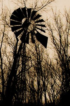 Silhouette of an old windmill.  Image: Marti LaChance