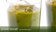 Carrot, Spinach, Apple, Ginger - Rise & Shine Juice, so good! Jamba Juice Recipes, Juicer Recipes, Smoothie Recipes, Juice Smoothie, Smoothie Drinks, Smoothies, Healthy Juices, Healthy Drinks, Healthy Recipes