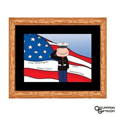 Buy a Marine Corps Gifts for the marine officer that you know and love! Marine Gifts, Army Gifts, Military Gifts, Marine Corps Officer, Army Soldier, Music Gifts, Red And White, Unique Gifts, Cartoon