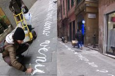 Calligraphy live performances for event Maddalena