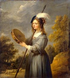 1650 David Teniers the Younger (Flemish artist, 1610–1690) Shepherdess It's About Time: Who are all these wealthy women pretending to tend sheep? 17C -18C Shepherdess personification portraits