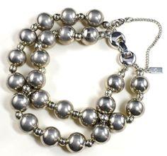 Vintage Monet Bead Bracelet Heavy Signed 2 by GreenDesertArt, $27.00