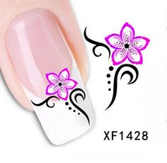 1 Set Charming Popular Hots Nails Art Sticker Multi-Color Flower Sticks Multi Mix Style CodeXF1428 >>> Trust me, this is great! Click the image. : Makeup organization