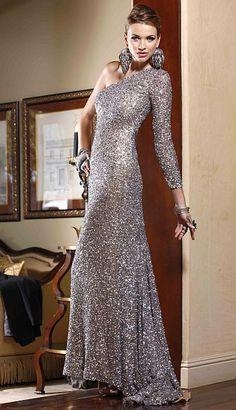 BG Haute Platinum One Shoulder Slim Sequin Prom Dress F01022 at frenchnovelty.com