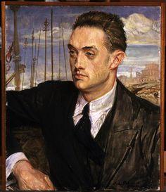 Jacques-Emile Blanche (1861-1942) - Henri de Montherlant. Musée des Beaux-Arts de Rouen.