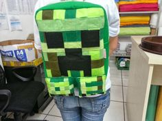 15 Incredibly Unique Minecraft Toys That'll Take Your Geekiness To New Levels Minecraft Bag, Minecraft Anime, Minecraft Stuff, Crochet Backpack Pattern, Gamer Room, Creeper, Sewing Projects, Backpacks, Unique
