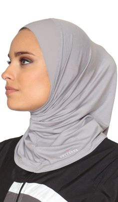 Artizara One Piece Stretch Sports Hijab, Athletic Hijab, Workout Hijab for Modest Islamic Hijabi Gym Workout - Grey Hijab Bride, Hijab Wedding Dresses, Muslim Brides, Muslim Women, Muslim Fashion, Hijab Fashion, Islamic Fashion, Pashmina Hijab Tutorial, Sports Hijab