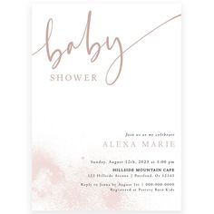 Blush Baby Shower Invitation | Forever Your Prints