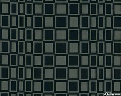PBRED6OX  Pen & Ink - Mod Checkered Squares - Black