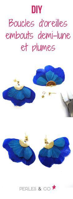 Connaissez-vous les embouts pinces demi-lune? Ils sont parfaits pour créer des boucles d'oreilles ou bien des sautoirs en éventail avec des plumes, des formes découpées dans de la feutrine puis tissées avec des perles de rocailles. De quoi donner un style ethnique et tendance à toutes vos créations !  En suivant ce tutoriel, vous allez pouvoir réaliser une jolie paire de boucles d'oreilles au style ethnique.