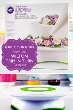 It's never been easier to decorate all the way around your cake! Great for both right- and left-handed decorators, the Wilton Trim N Turn Ultra Cake Turntable turns smoothly, but locks securely into place when you're ready for the finer details. You can even use it to proudly display that beautiful cake!