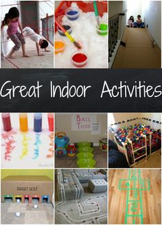 Great indoor activities for kids