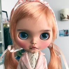 Bye bye lovely one, it's been a real pleasure working with you and having you at home. #mform #mformonkey #doll #dolls #tiina #tiinacustom #blythe #blythedoll #blythecollab #blythecustom #blythedollcustom