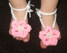 Barefoot Flowered Sandals : ready to be shipped by simplyyarn27