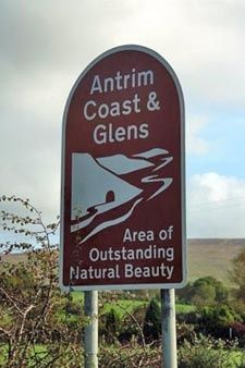 Sign in the Moyle area (near Ballycastle Castle Hotel) on part of the North Antrim Coast Road Northern Ireland. www.hastingshotels.com