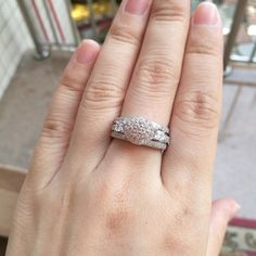 Diamond Wedding Bridal Sets 14K White Gold Round Cut Engagement Rings 925 Silver #giftjewelry22 #EngagementWeddingAnniversaryPartyDailyWear