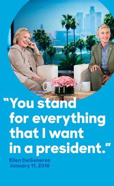 Thank you, Ellen DeGeneres.