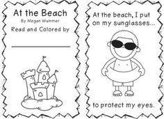 Free! At the Beach Emergent Reader....importance of sun safety and having fun in the sun!