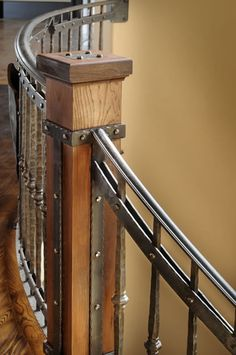 iron and wood staircase