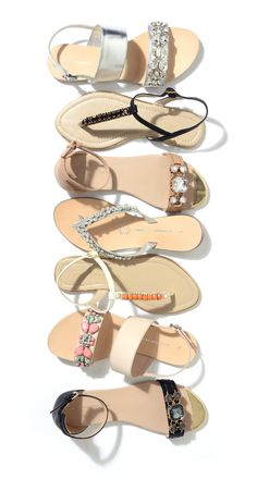 These sandals are a glitzy treat for our feet. #Summer