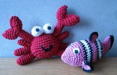 amigurumi free PATTERN- Fish & Crab
