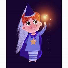Who's a good wizard? #illustration #illustrationart #illustrationartists #illustratorsoninstagram #childrenillustration #kidlitart #characterdesign #cartoon #littlekids #magic #wizard #cute #art #digitalart #digitalillustration