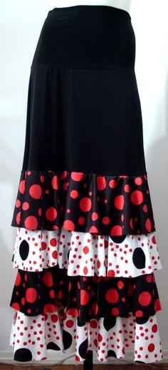 Flamenco skirt - www.riatita.com.br