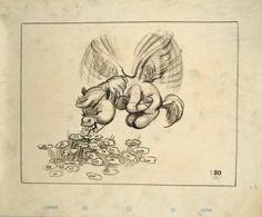 Storyboard of Pegasus from Fantasia