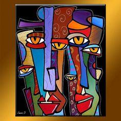 F0123 F  9newart  Tableau Art peinture abstraite contemporaine Face Art, Modern Pop Art, Modern Abstract Art, Abstract Designs, Art Designs, Pop Art Collage, Art Pop, Colorful Paintings, Art Paintings