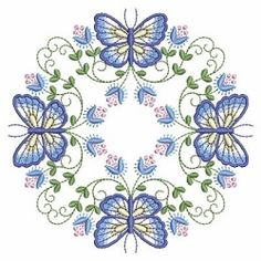 Butterfly Fancy Block 7 - 3 Sizes! | What's New | Machine Embroidery Designs | SWAKembroidery.com Ace Points Embroidery