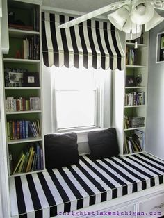 our window seat family library, diy, home decor, how to, storage ideas, The completed window seat