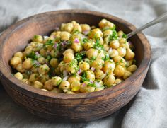 (TESTED & PERFECTED RECIPE) Super-simple chickpea, red onion and parsley salad that makes a delicious lunch or side dish to grilled shrimp or chicken.