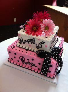 34 Ideas For Birthday Party Ideas For Women Beautiful Cakes Birthday Cake Ideas For Adults Women, 50th Birthday Cake For Women, 60th Birthday Cakes, 70 Birthday, Husband Birthday, Buttercream Designs, Buttercream Cake, Cupcakes, Cupcake Cakes