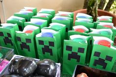 Minecraft Themed Birthday Party - Party Bags