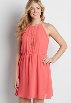 solid chiffon dress (original price, $34.00) available at #Maurices