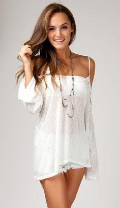 Crochet Off Shoulder Romantic Top